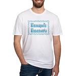 Minneapolis Minnesnowta Fitted T-Shirt