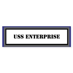 USS Enterprise Sticker (Bumper)