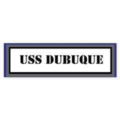 USS Dubuque Sticker (Bumper)