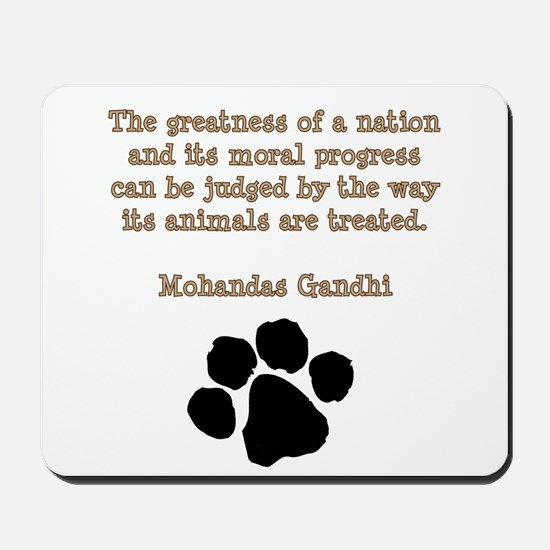 Gandhi Animal Quote Mousepad