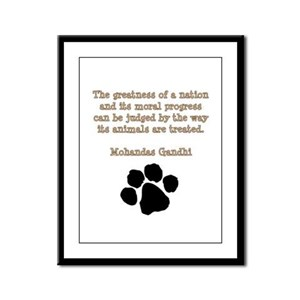 Gandhi Animal Quote Framed Panel Print