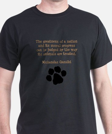 Gandhi Animal Quote T-Shirt