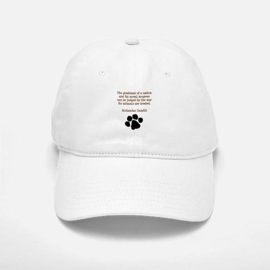 Gandhi Animal Quote Hat