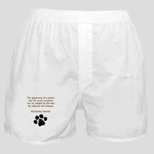 Gandhi Animal Quote Boxer Shorts