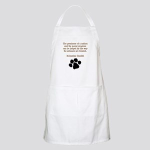 Gandhi Animal Quote Apron