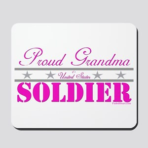 Proud Grandma of a Soldier Mousepad