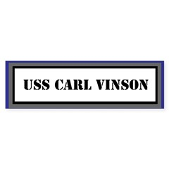 USS Carl Vinson Sticker (Bumper)