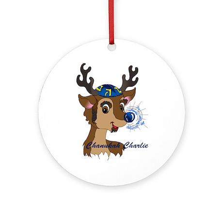 Chanukah Charlie Ornament (Round)