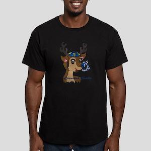 Chanukah Charlie Men's Fitted T-Shirt (dark)
