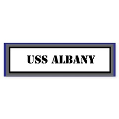 USS ALBANY Sticker (Bumper)