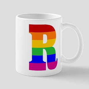 Rainbow Letter R Mug