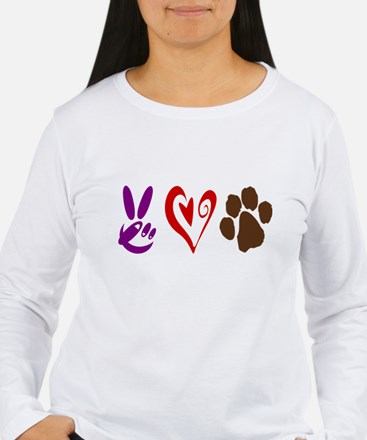 Peace, Love, Pets Symbols T-Shirt