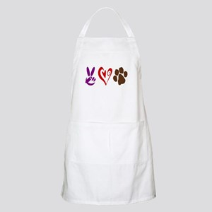 Peace, Love, Pets Symbols Apron