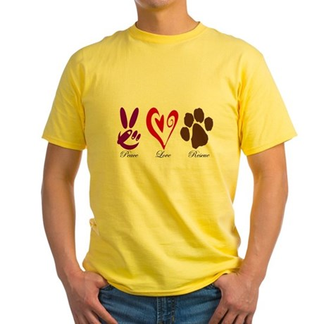 Peace, Love, Rescue Yellow T-Shirt