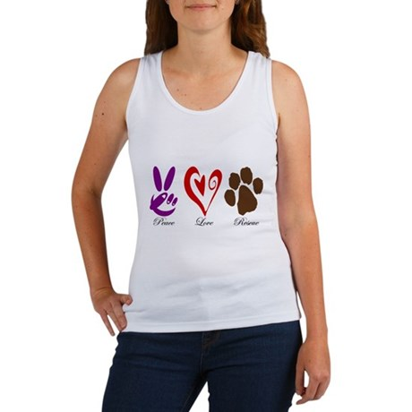 Peace, Love, Rescue Women's Tank Top