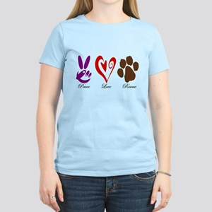 Peace, Love, Rescue Women's Light T-Shirt