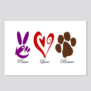 Peace, Love, Rescue Postcards (Package of 8)
