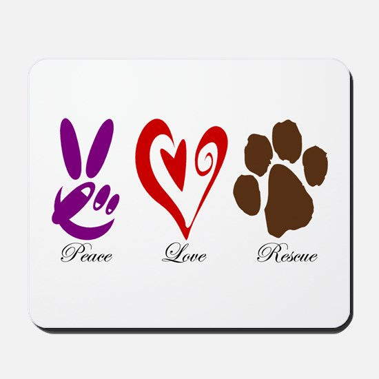 Peace, Love, Rescue Mousepad