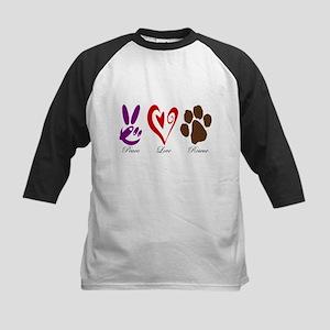 Peace, Love, Rescue Kids Baseball Jersey
