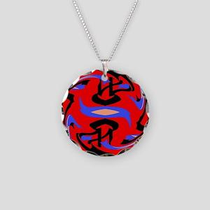 Unique Mix Design Necklace Circle Charm