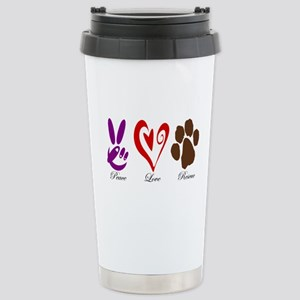 Peace, Love, Rescue Stainless Steel Travel Mug