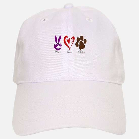 Peace, Love, Rescue Baseball Baseball Cap
