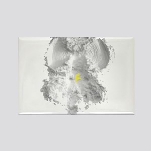 Yellow Snow Angel Rectangle Magnet
