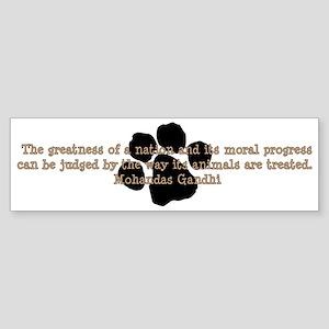 Gandhi Animal Quote Sticker (Bumper)