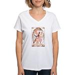 Healing Harp Women's V-Neck T-Shirt