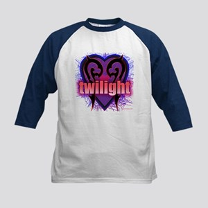 Twilight Grabs My Heart Kids Baseball Jersey