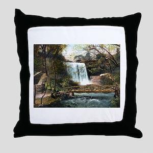 1906 Minnehaha Falls Throw Pillow