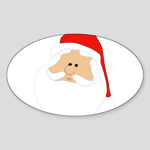 Christmas Santa Oval Sticker