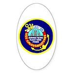 USS Caloosahatchee (AO 98) Oval Sticker (10 pk)