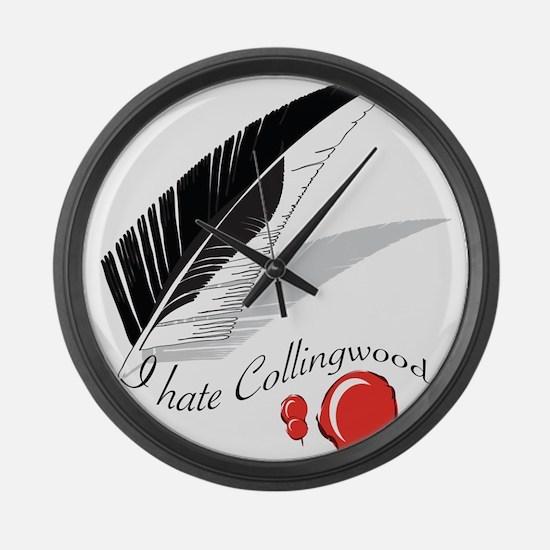 I Hate Collingwood Large Wall Clock