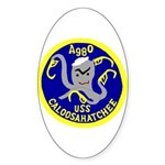 USS Caloosahatchee (AO 98) Oval Sticker (10 pk)