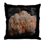 Coral Fungus Throw Pillow