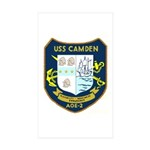 USS Camden (AOE 2) Rectangle Sticker 50 pk)