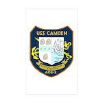 USS Camden (AOE 2) Rectangle Sticker 10 pk)