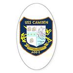 USS Camden (AOE 2) Oval Sticker (10 pk)