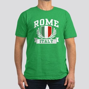 Rome Italy Men's Fitted T-Shirt (dark)
