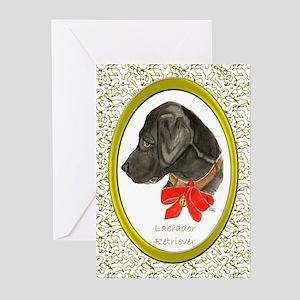 Labrador Retriever Black Lab Christmas Cards Greet