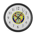 USS Milwaukee (AOR 2) Large Wall Clock