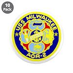 """USS Milwaukee (AOR 2) 3.5"""" Button (10 pack)"""