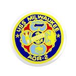 """USS Milwaukee (AOR 2) 3.5"""" Button"""