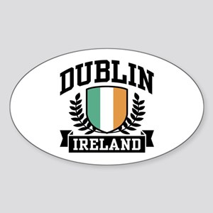 Dublin Ireland Oval Sticker