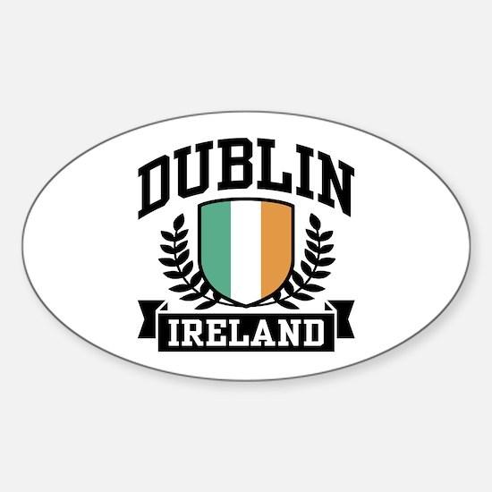 Dublin Ireland Oval Decal