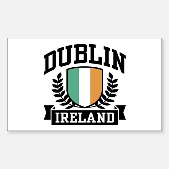 Dublin Ireland Rectangle Decal