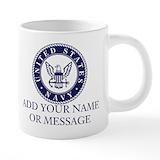Personalize us navy blue Mega Mugs (20 Oz)