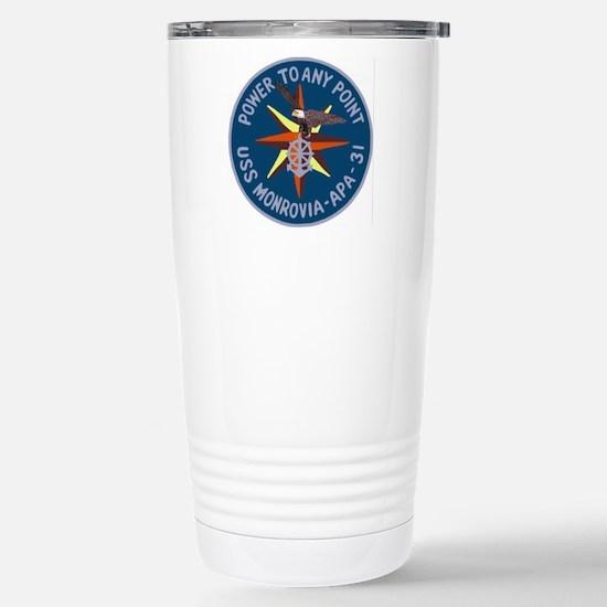 USS Monrovia (APA 31) Stainless Steel Travel Mug