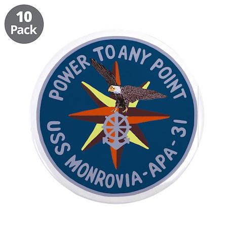 """USS Monrovia (APA 31) 3.5"""" Button (10 pack)"""